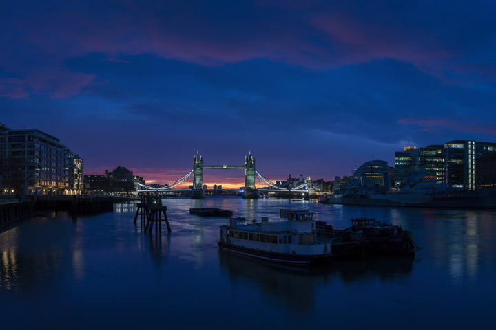 Tower Bridge Blue Dawn