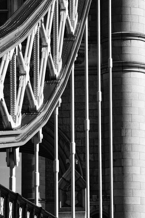Photograph of Tower Bridge - Detail