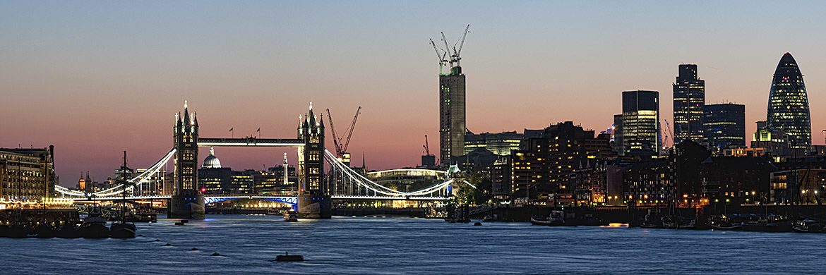 Photograph of Tower Bridge and City Skyline 6