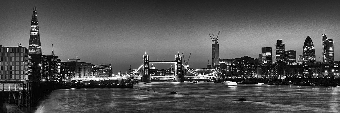 Tower bridge and city skyline