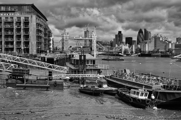 Photograph of Tower Bridge and Houseboats 2