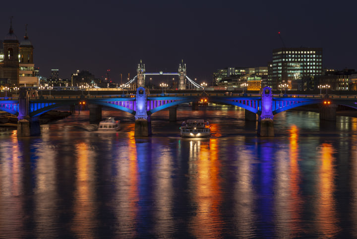 Tower Bridge and Southwark Bridge