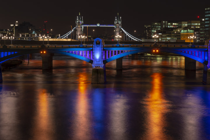 Photograph of Tower Bridge and Southwark Bridge 3