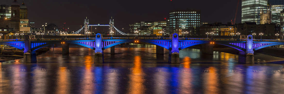 Photograph of Tower Bridge and Southwark Bridge 4