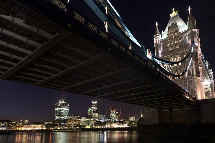Photograph of Tower Bridge and the City Skyline 2