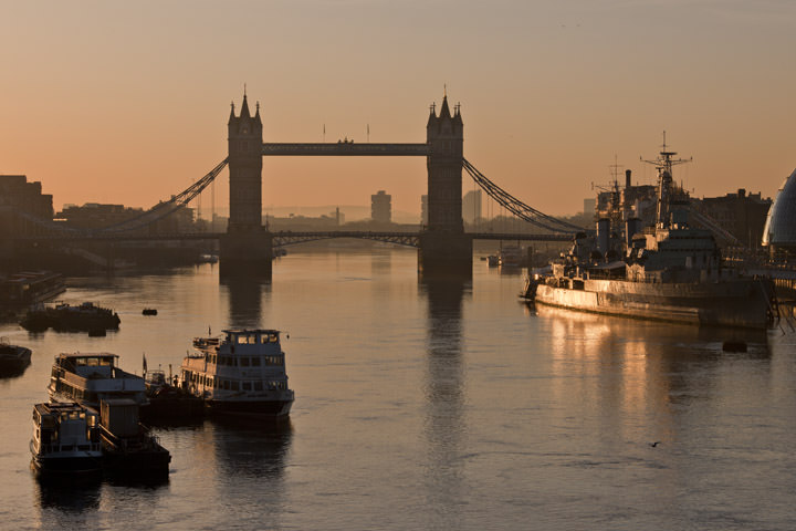 Photograph of Tower Bridge at Dawn