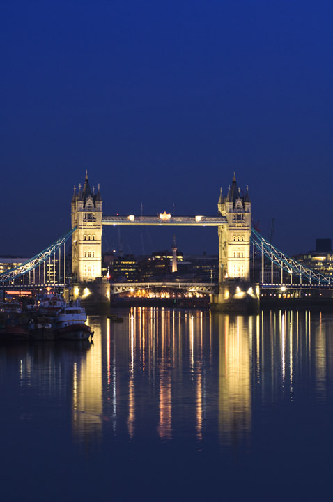 Photograph of Tower Bridge at Dusk