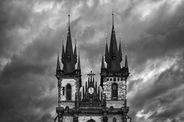 Photograph of Tyn Church Prague 3