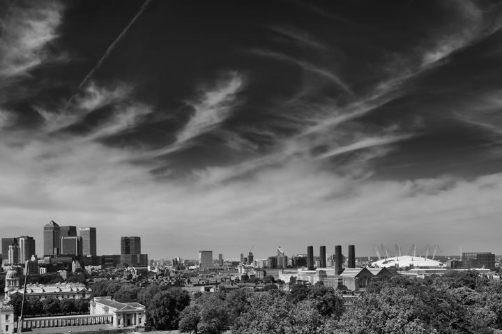Photograph of View over London from Greenwich