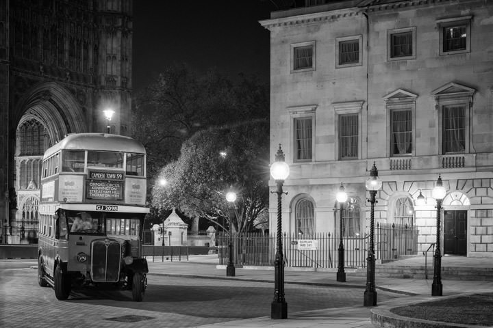 Photograph of Vintage Bus Westminster