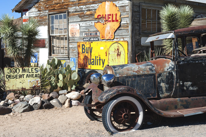 Photograph of Vintage Car - Route 66