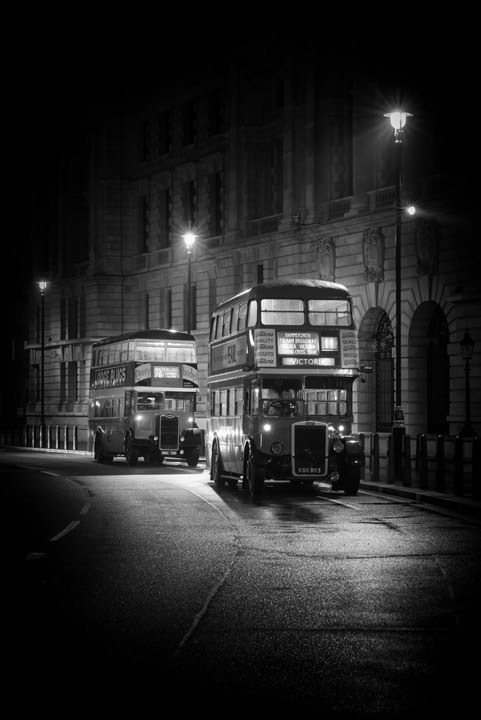 Photograph of Vintage London Buses 1