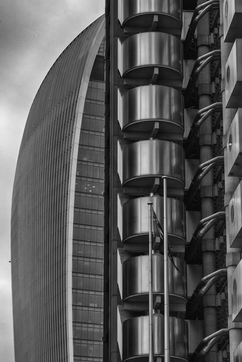 Walkie Talkie Building and Lloyds Building.
