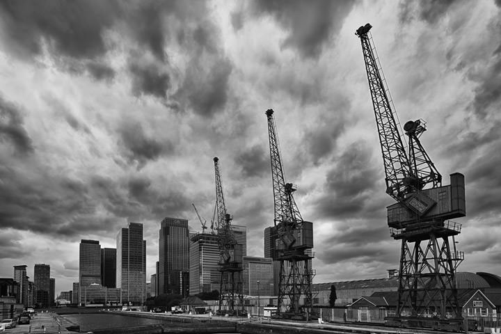 Photograph of West India Dock Cranes 1