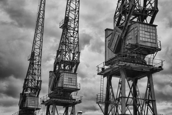 Photograph of West India Dock Cranes 2