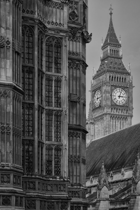 Photograph of Westminster Abbey and Big Ben 2