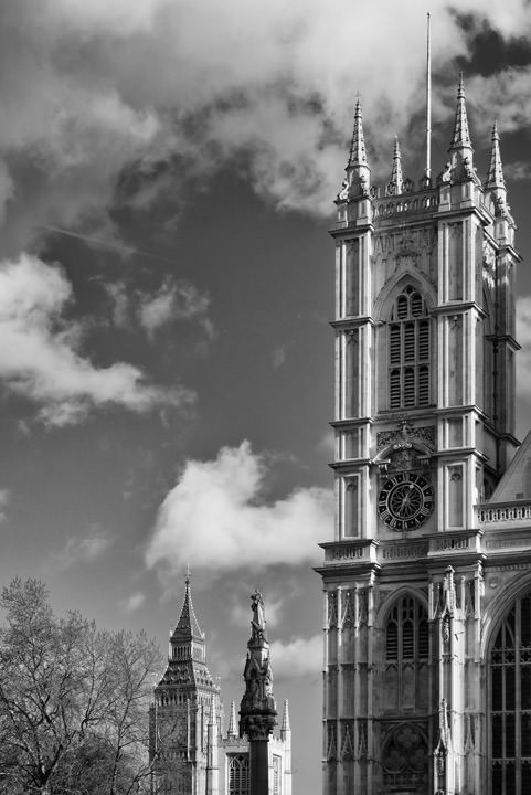 Photograph of Westminster Abbey and Big Ben 3