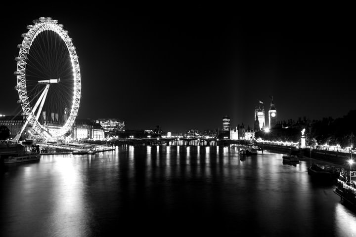 Photograph Of Westminster By Night 1