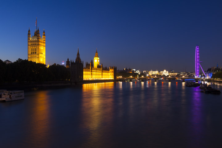 Photograph of Westminster from Lambeth Bridge