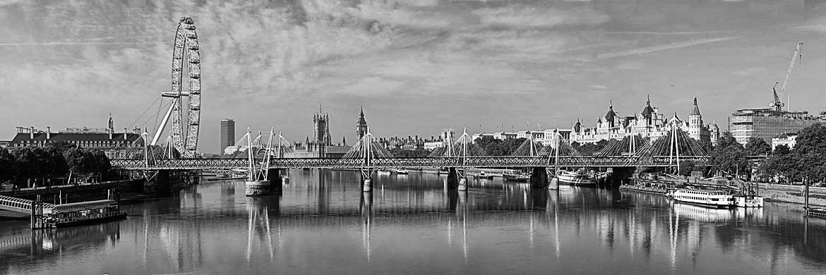 Photograph of Westminster from Waterloo Bridge 1