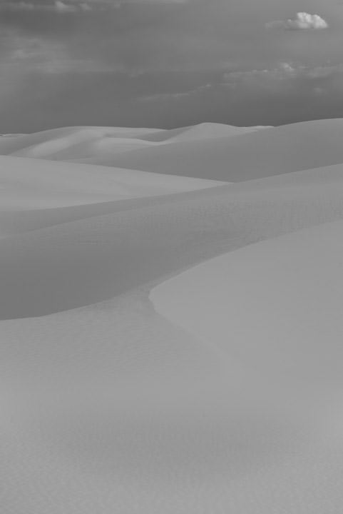 White Sand Dunes in New Mexico USA