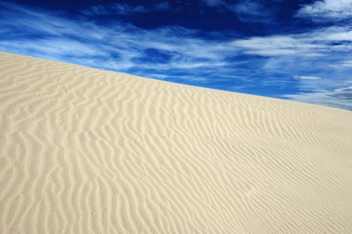 Photograph of White sand dunes