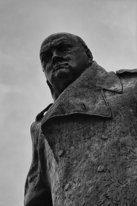 Photograph of William Churchill Statue