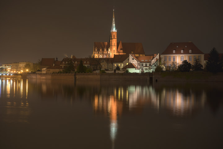 Photograph of Wroclaw Night Scene